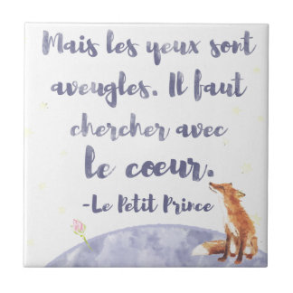 Watercolor Le Petit Prince The Little Prince Tile
