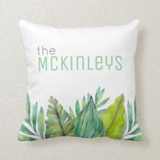 Watercolor Leaf | Customizable Throw Pillow