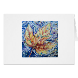 Watercolor Leaf Print Greeting Card