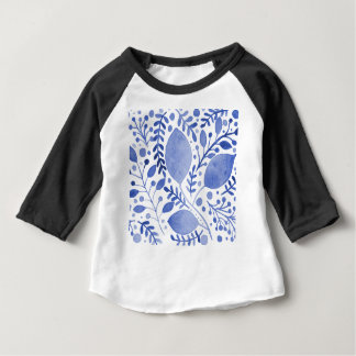 Watercolor leaves - blue baby T-Shirt