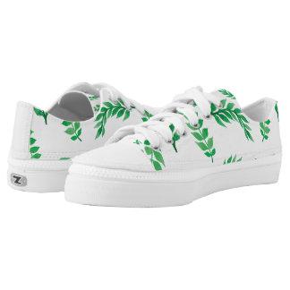 Watercolor leaves Low-Top sneakers
