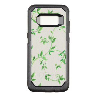 Watercolor leaves pattern OtterBox commuter samsung galaxy s8 case