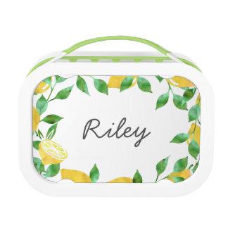 Watercolor Lemon Personalized Lunchbox