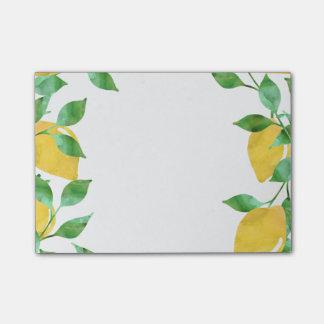 Watercolor Lemons Sticky Notes