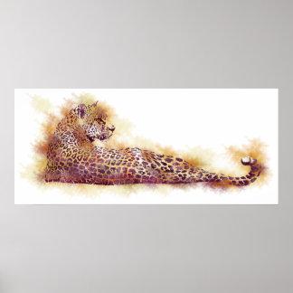 Watercolor Leopard Poster
