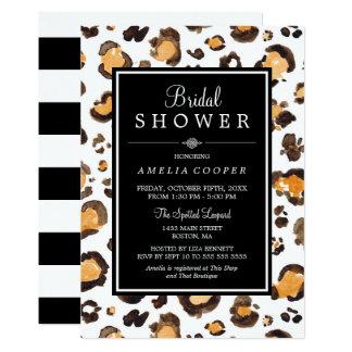 Watercolor Leopard Print | Bridal Shower Invite