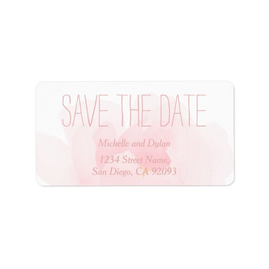 Watercolor Light Pink Peony Wedding Save the Date
