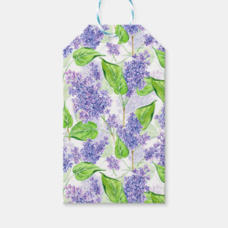 Watercolor lilac flowers gift tags