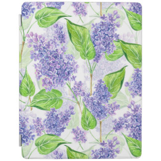 Watercolor lilac flowers iPad cover