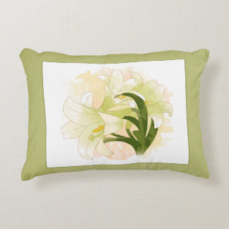 Watercolor Lilies 12x16in Pillow