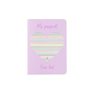 Watercolor lines passport holder