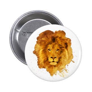 Watercolor Lion 2 Inch Round Button