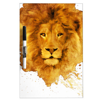 Watercolor Lion Dry Erase Whiteboards