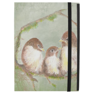 "Watercolor Little Bird Family Nature Art iPad Pro 12.9"" Case"
