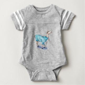 Watercolor Llama in Blue Sweater
