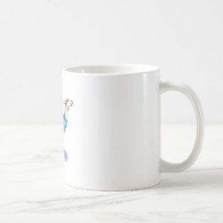 Watercolor Llama in Blue Sweater Coffee Mug