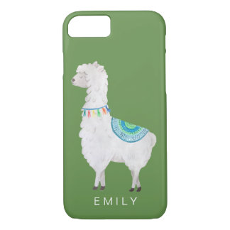 watercolor llamas cute modern hipster iPhone 8/7 case
