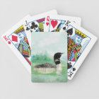 Watercolor Loon Wilderness Lake Bird Nature Art Bicycle Playing Cards