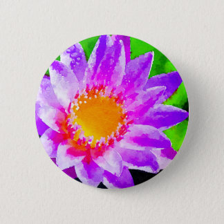 Watercolor Lotus 2 Inch Round Button