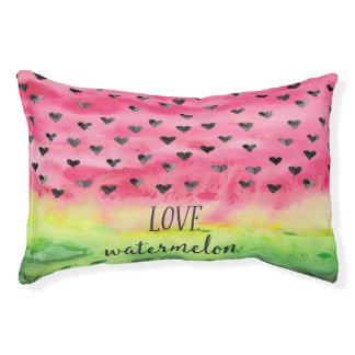 Watercolor Love Watermelon Hearts Small Dog Bed