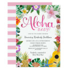 Watercolor Luau Baby Shower Invite | Pink