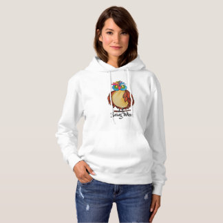 Watercolor Magical Owl With Rainbow Feathers Hoodie
