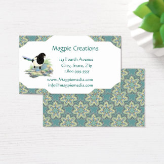 Watercolor Magpie Bird Business Card