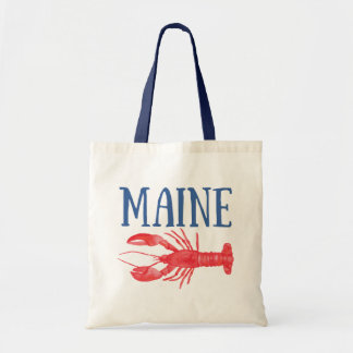 Watercolor Maine Lobster Tote Bag