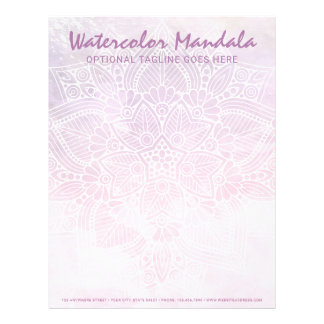 Watercolor Mandala Holistic Healing & Spiritual Letterhead