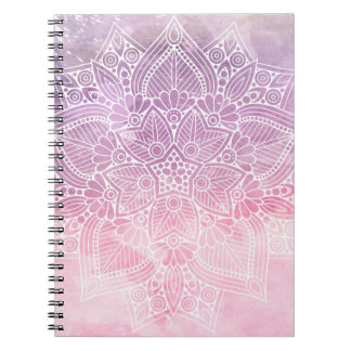 Watercolor Mandala Holistic Healing & Spiritual Spiral Notebook