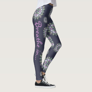 Watercolor Mandala Yoga Pants