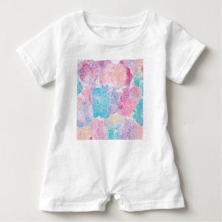 Watercolor mandalas colorful splashes boho baby romper