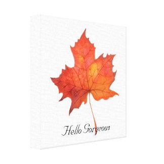 Watercolor Maple Leaf Canvas Print
