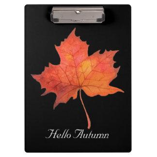 Watercolor Maple Leaf Clipboard