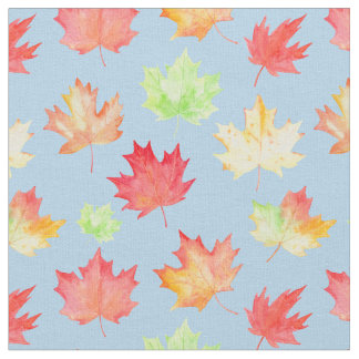Watercolor Maple Leaf Fabric