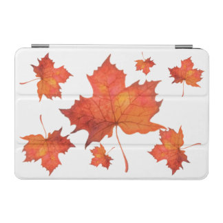 Watercolor Maple Leaf iPad Mini Cover