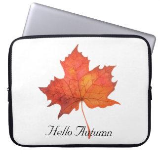 Watercolor Maple Leaf Laptop Sleeve