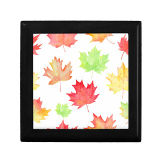 Watercolor Maple Leaf Pattern Gift Box