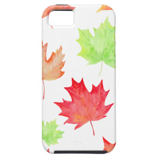 Watercolor Maple Leaf Pattern iPhone 5 Cover