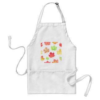 Watercolor Maple Leaf Pattern Standard Apron