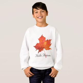 Watercolor Maple Leaf Sweatshirt