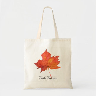 Watercolor Maple Leaf Tote Bag