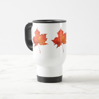 Watercolor Maple Leaf Travel Mug