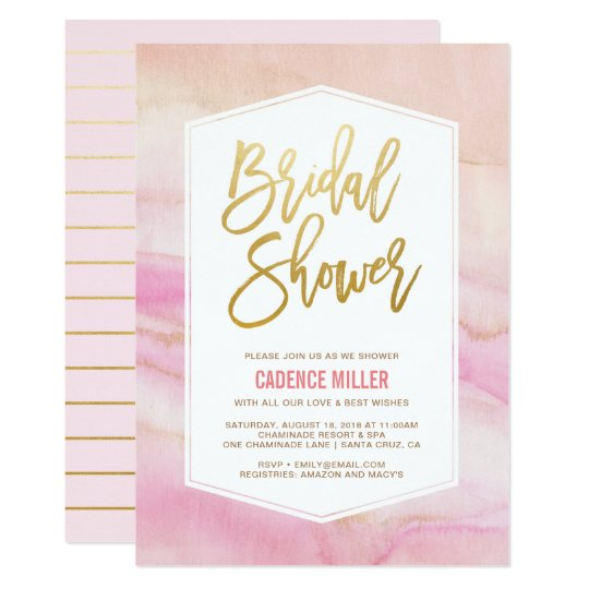 Watercolor Marble Bridal Shower Invitation