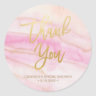 Watercolor Marble Bridal Shower Sticker Label
