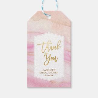 Watercolor Marble Bridal Shower Thank You Hang Tag