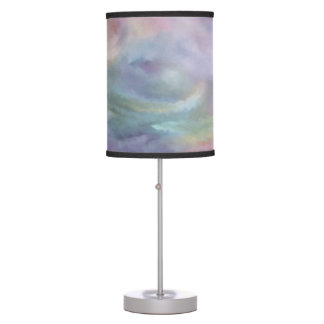 Watercolor Marble Decor | Colorful Rainbow Pastel Table Lamp