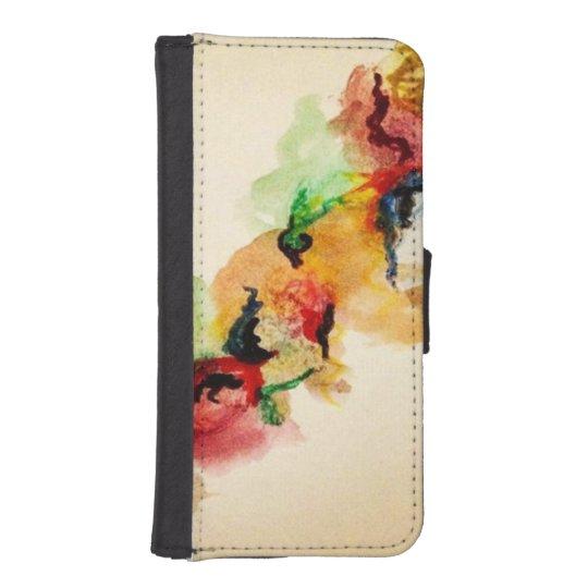 Watercolor Mark iPhone SE/5/5s Wallet Case