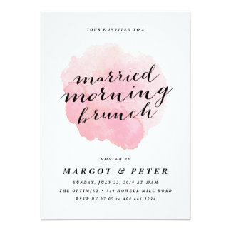 Watercolor married morning brunch Invitation