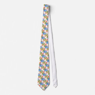 Watercolor maryland flag and blue crab tie